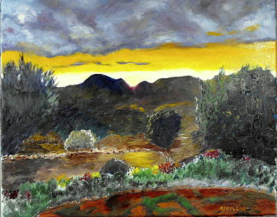 Painting - Taos Garden by Jack Riddle