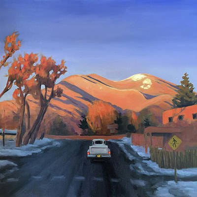 Painting - Taos In The Golden Hour by Elizabeth Jose