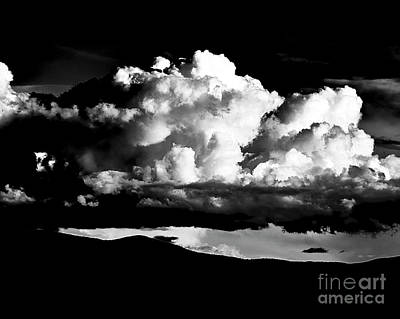 Photograph - Taos Monsoon In B-w by Charles Muhle