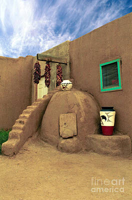 Taos Oven Art Print by Jerry McElroy