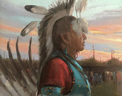 Painting - Taos Powwow by Elizabeth Jose