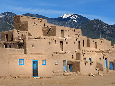 Photograph - Taos Pueblo 28 by Jeff Brunton
