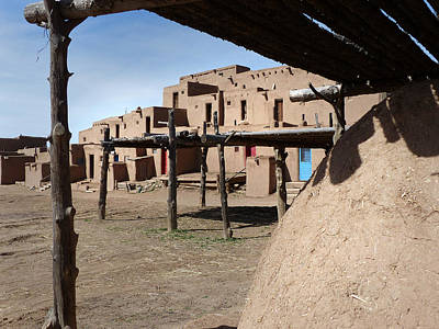 Photograph - Taos Pueblo 41 by Jeff Brunton