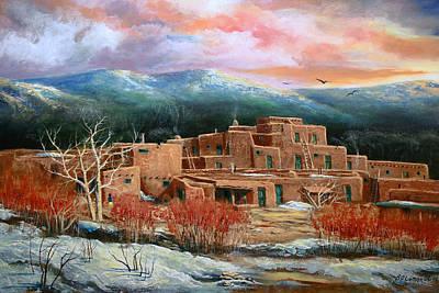 Taos Pueblo Art Print by Brooke lyman