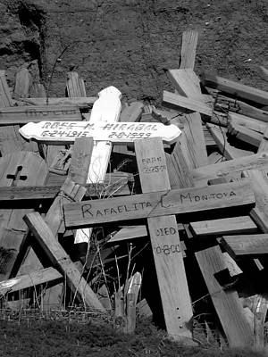 Photograph - Taos Pueblo Cemetery 10 by Jeff Brunton