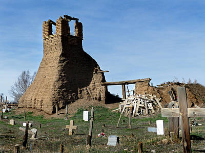 Photograph - Taos Pueblo Cemetery 11 by Jeff Brunton