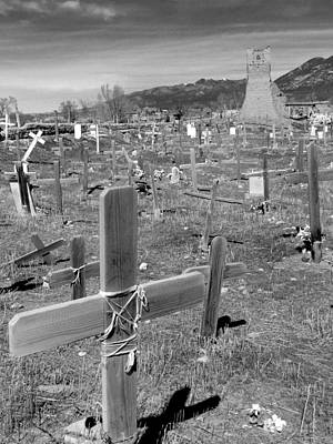 Photograph - Taos Pueblo Cemetery 3 by Jeff Brunton