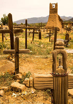 Photograph - Taos Pueblo Cemetery by Robert Brusca