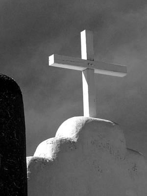 Photograph - Taos Pueblo Church 2 by Jeff Brunton