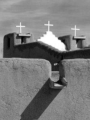 Photograph - Taos Pueblo Church 4 by Jeff Brunton