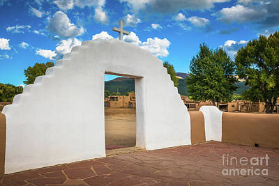 Photograph - Taos Pueblo Church Entrance by Inge Johnsson