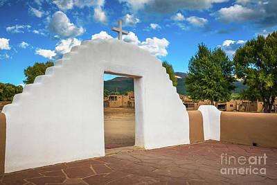 Taos Pueblo Church Entrance Art Print