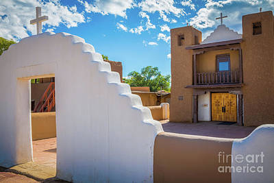 Photograph - Taos Pueblo Church by Inge Johnsson