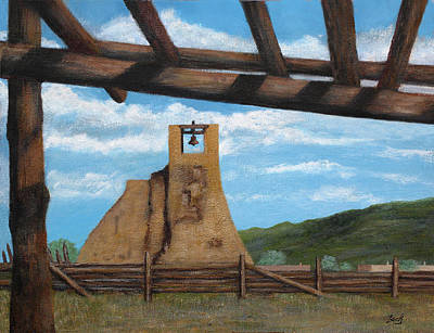 Scottsdale Painting - Taos Pueblo Church Ruins by Gordon Beck