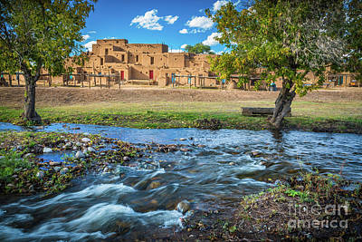 Photograph - Taos Pueblo Creek by Inge Johnsson