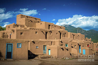 Photograph - Taos Pueblo by Inge Johnsson