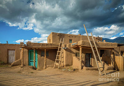 Photograph - Taos Pueblo Shadows by Inge Johnsson