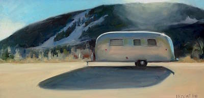 Airstream Trailer Painting - Taos Ski Valley Airstream by Elizabeth Jose