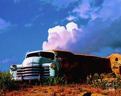 Digital Art - Taos Skies by Terry Fiala