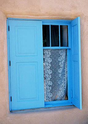 Taos Window Art Print by Diana Davenport