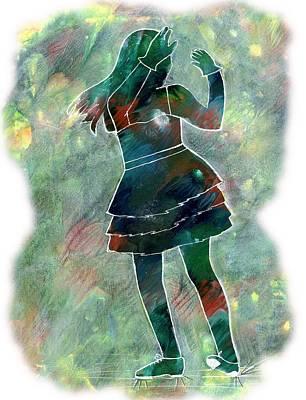 Painting - Tap Dancer 1 - Green by Lori Kingston