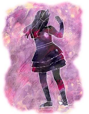 Painting - Tap Dancer 1 - Pink by Lori Kingston