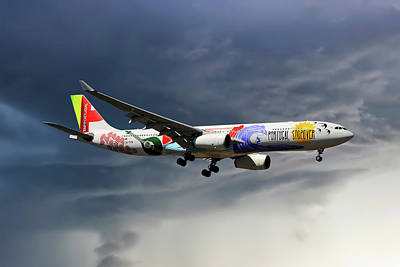 Portugal Photograph - Tap Portugal Airbus A330-343 by Smart Aviation