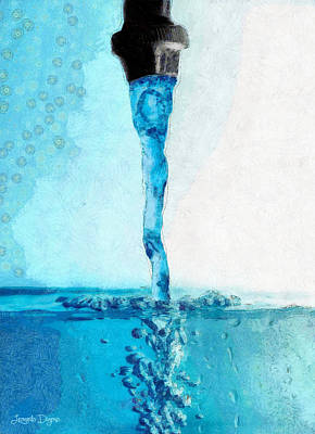 Crystal Digital Art - Tap Water B - Da by Leonardo Digenio