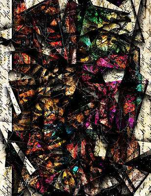 Colorful Abstract Digital Art - Tapestry  by Gary Bodnar