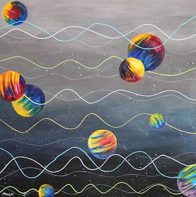The Universe Painting - Tapestry Of The Universe - Life Threads by Anila Ayilliath