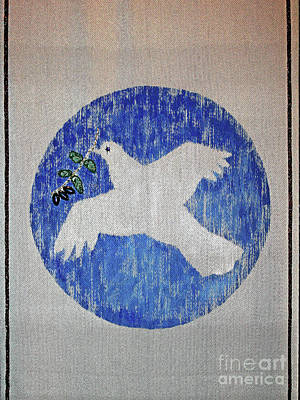 Photograph - Tapestry Peace Dove by Larry Oskin