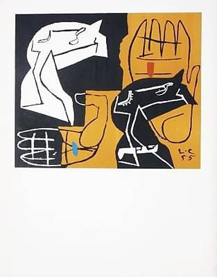 Mourlot Painting - Tapisseries by Le Corbusier