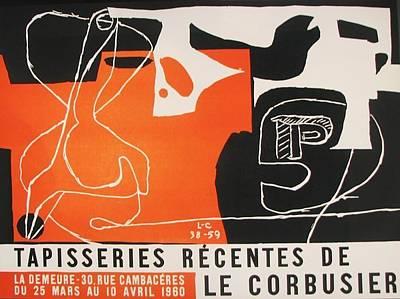 Mourlot Painting - Tapisseries Recentes by Le Corbusier