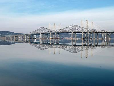 Photograph - Tappan Zee Bridges by Cornelia DeDona