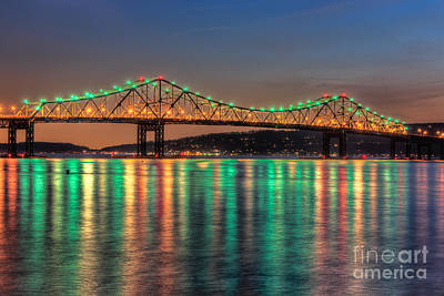Photograph - Tappan Zee Bridge Twilight II by Clarence Holmes