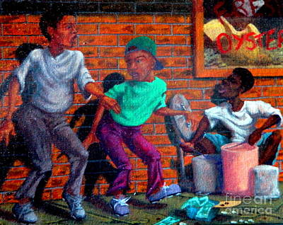 Painting - Tappin' N Drummin' by Clifford Etienne