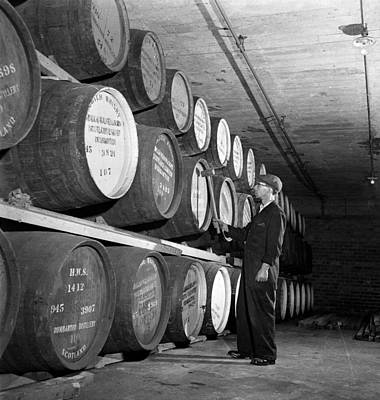 Cellar Photograph - Tapping Casks by George Konig
