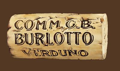 Cork Painting - tappo Burlotto by Danka Weitzen