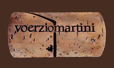 Italian Wine Painting - Tappo E Grappolo by Danka Weitzen