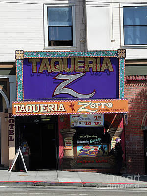 Photograph - Taqueria Zorro North Beach San Francisco California 7d7441 by San Francisco