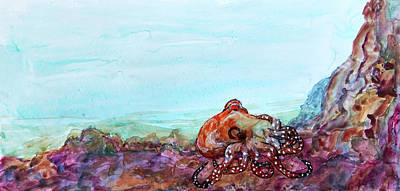 Painting - Tar Gel Octo by Patricia Beebe