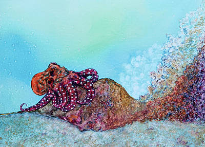 Painting - Tar Gel Octo Too by Patricia Beebe