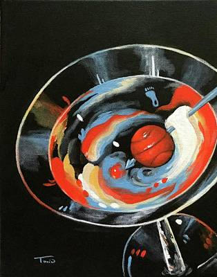 Martini Painting Rights Managed Images - Tar Heel Martini III   Royalty-Free Image by Torrie Smiley