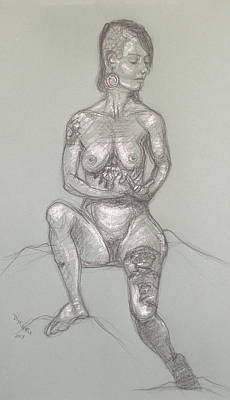 Drawing - Tara - Arms Folded by Donelli  DiMaria