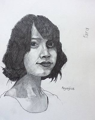 Drawing - Tara by Ray Agius