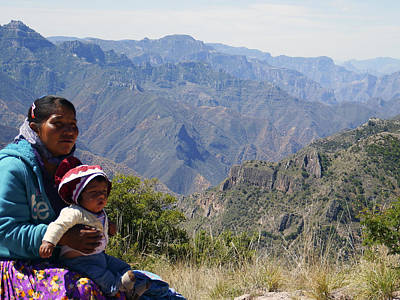 Photograph - Tarahumara Mother And Child At Copper Canyon by Kurt Van Wagner