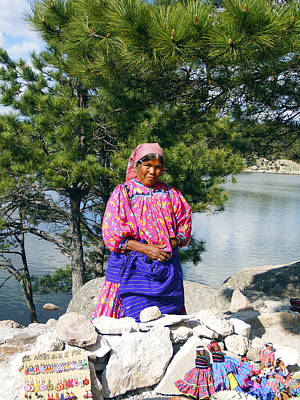 Photograph - Tarahumara Woman At Lake Arareko by Kurt Van Wagner