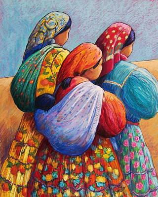 Tarahumara Women Art Print by Candy Mayer