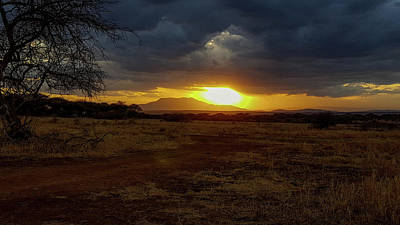 Photograph - Tarangire Sunset by Marilyn Burton