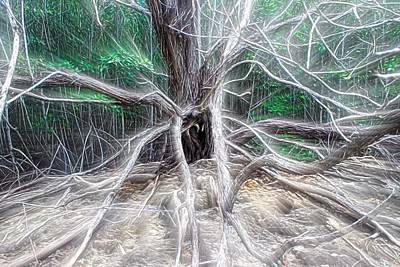 Fangorn Forest Photograph - Tarantula Tree by Chrystyne Novack